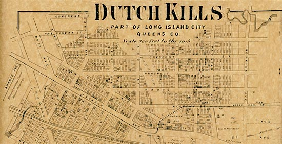 Old Dutch Kills map