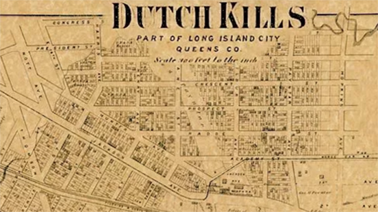Dutch Kills old map